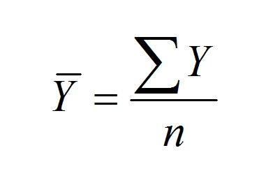 sample mean formula
